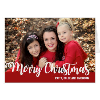 Merry Christmas Personalized Photo ChristmasCard Card