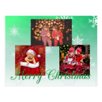 Merry Christmas Personalized Photo Postcard
