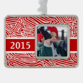 Merry Christmas Personalized Silver Plated Framed Ornament