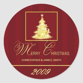 Merry Christmas - Personalized Sticker Labels sticker