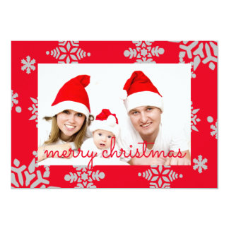 Merry Christmas Personlaized Photo Card