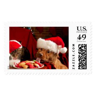Merry Christmas Pets Postage