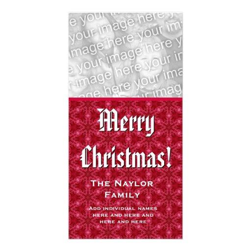 Merry Christmas Photo Card Custom Family Name