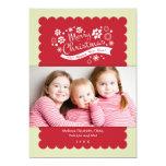 Merry Christmas Photo Card Custom Invites