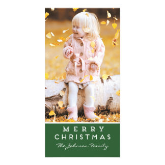 Merry Christmas Photo Card | Green Overlay