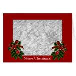 Merry Christmas Photo Card Greeting Card