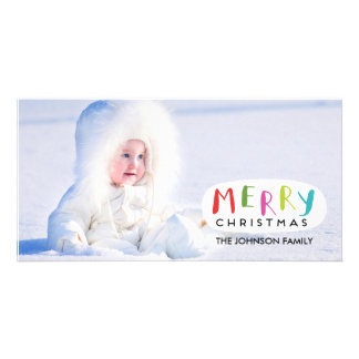 Merry Christmas Photo Card | Hand Lettered
