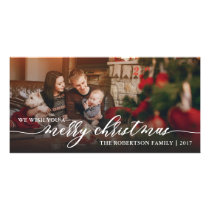 Merry Christmas Photo Card, Happy Holidays Card