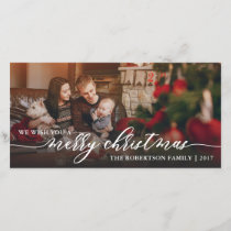 Merry Christmas Photo Card, Happy Holidays Holiday Card