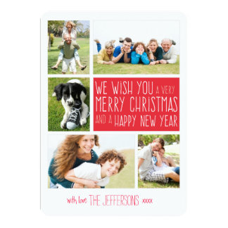 Merry Christmas photo card | Holiday photo collage