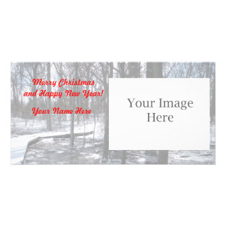 Merry Christmas Photo Card - Snowy Woods