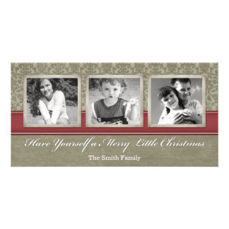 Merry Christmas Photo Card with 3 photos