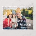 "Merry Christmas PHOTO Christmas Greeting Holiday Postcard<br><div class=""desc"">Merry Christmas PHOTO Christmas Greeting Holiday Postcard.</div>"