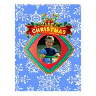 Merry Christmas Photo Frame Postcard
