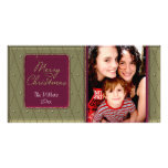 Merry Christmas Photo Greeting Card
