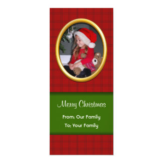 Merry Christmas Photo Greeting 4x9.25 Paper Invitation Card