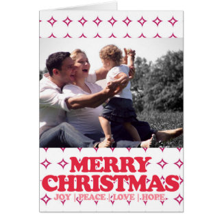 """Merry Christmas"" Photo Holiday Greeting Card"