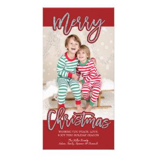 Merry Christmas Photocard Card