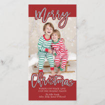 Merry Christmas Photocard Holiday Card