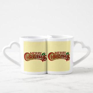 Merry Christmas Couples' Coffee Mug Set