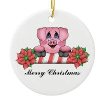 Merry Christmas Piggy Ornament