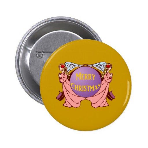 Merry Christmas Pin Redondo 5 Cm