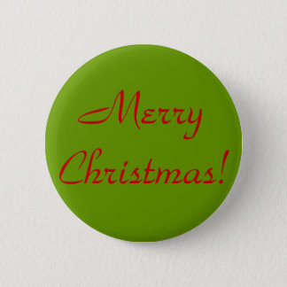 Merry Christmas! Pinback Button