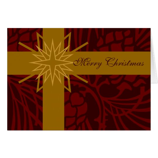 Merry Christmas Pine Cone Present III Card