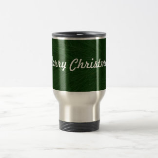 Merry Christmas Pine Tree Close Up Travel Mug