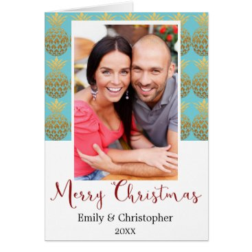 Merry Christmas Pineapple Holiday Photo Card