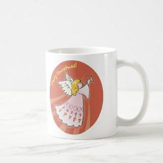 Merry Christmas Pink Angel Mugs