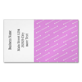 merry christmas pink business card magnet