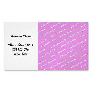 merry christmas pink magnetic business card