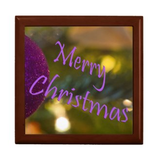 Merry Christmas Pink Ornament Gift Box