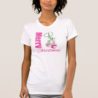Merry Christmas Pink Whimsical Ornaments v2 T-Shirt