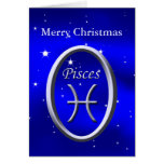 Merry Christmas Pisces Greeting Card