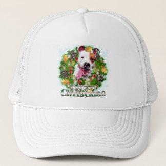 Merry Christmas Pitbull Trucker Hat