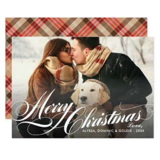 Merry Christmas | Plaid Holiday Photo Card