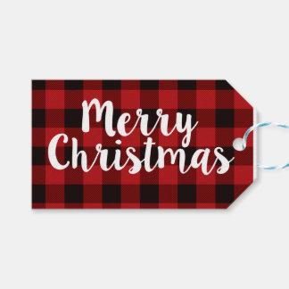 Merry Christmas Plaid   Tags