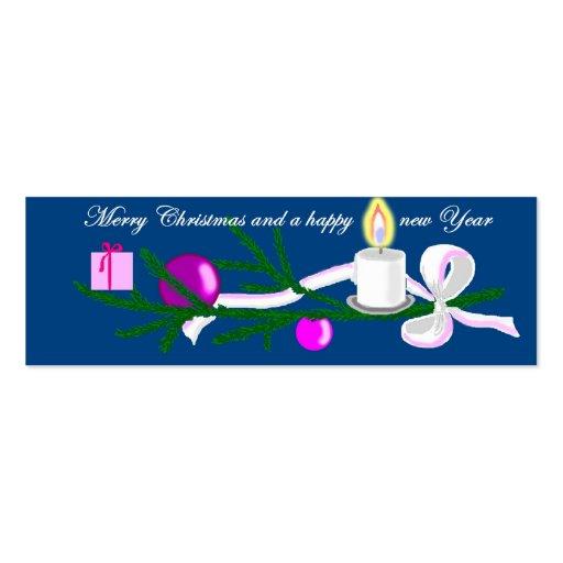 merry Christmas Plantilla De Tarjeta De Visita