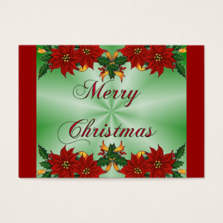Merry Christmas Poinsettia Recipe Card
