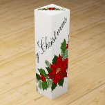 "Merry Christmas Poinsettia Wine Gift Box<br><div class=""desc"">Merry Christmas</div>"