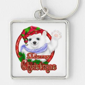 Merry Christmas Polar Bear Keychain