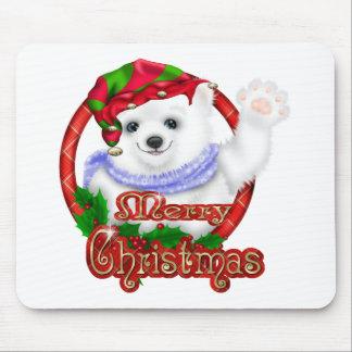 Merry Christmas Polar Bear Mouse Pad