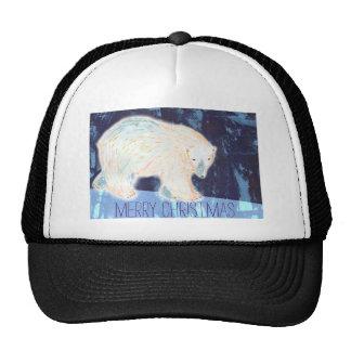 Merry Christmas Polar Bear Trucker Hat