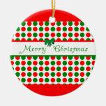Merry Christmas Polka Dots Christmas Ornament
