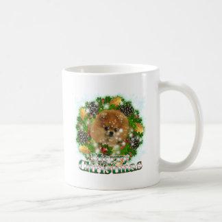 Merry Christmas Pomeraniam Coffee Mug