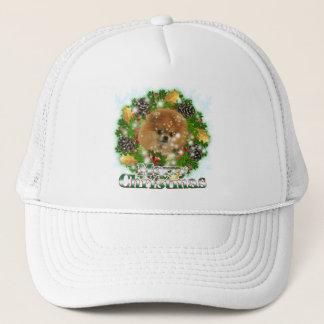 Merry Christmas Pomeraniam Trucker Hat