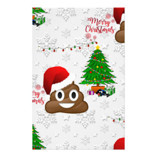 merry christmas poo emoji stationery
