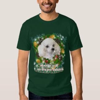 Merry Christmas Poodle Shirt